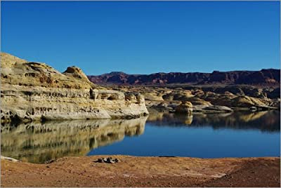 Poster 30 X 20 Cm - Fire Pit Colorado River And Multicolored Rocks Near Hite Utah By Claudio Del Luongo - Also Available In Other Sizes And As A Canvas Print from POSTERLOUNGE