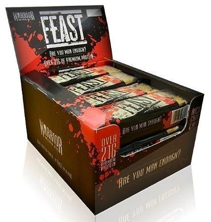Warrior FEAST Protein Riegel - 12 Riegel - Reichhaltig Schokoladen Chip