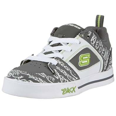 Skechers Vert 91460L CCW, Jungen Sneaker, grau, EU 29