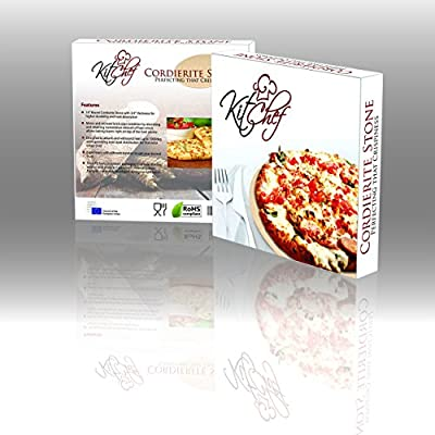 Basil & Grain 14-Inch x 3/4-Inch Round Cordierite Pizza Stone