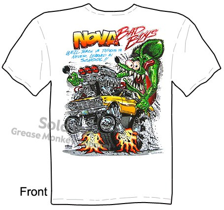 SIZE Medium Big Daddy T 62 63 64 Nova Bad Boys Rat Fink T Shirt Ed Roth Clothing