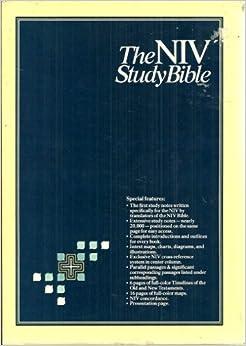 1985 Hardcover NIV Study Bible Tag: 1984