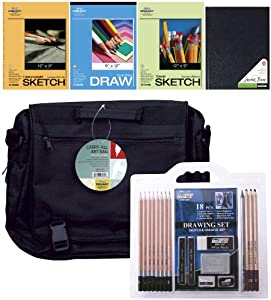 "Pro Art ""Art on the Go"" Drawing Set, 23-Piece"