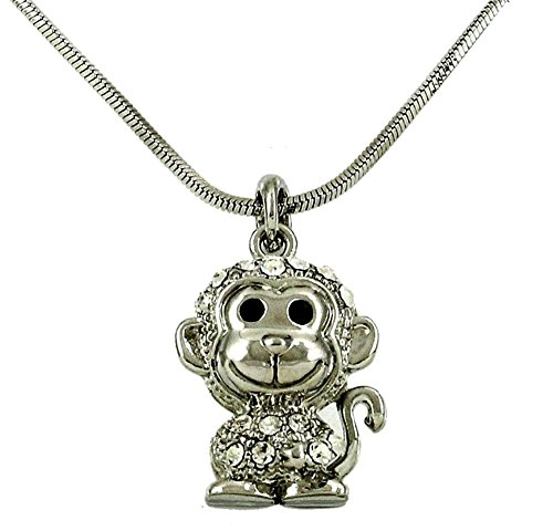 DianaL-Boutique-Adorable-Little-Monkey-Charm-Pendant-Necklace-Fashion-Jewelry-for-Girls-and-Women