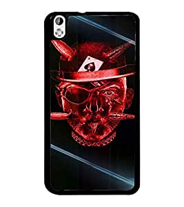 PrintDhaba Devil Skull D-5855 Back Case Cover for HTC DESIRE 816 (Multi-Coloured)