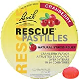 Bach Rescue Remedy Natural Stress Relief Pastilles Cranberry Flavor 1.7 oz