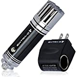 MOST HEALTHY Car Air Purifier Ionizer with Home 12V Adapter | Removes Cigarette Smoke, Bacteria, Odor Smell | Helps With Allergies | Mini Air Cleaner Gadget & Smoke Eater Eliminator Remover - Black