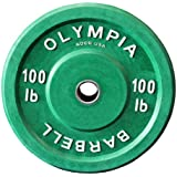 100 Lb Rubber Weight Plates Green Pair