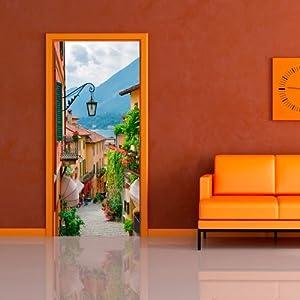 Door wallpaper with nature motif romantic haven non for Amazon wall mural