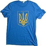 Ukraine Pride | Vintage Style, Retro-Feel Ukrainian Coat of Arms Unisex T-shirt-Adult,XL