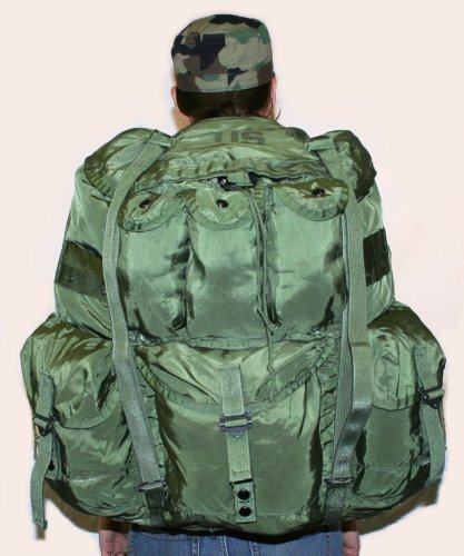 USGI Military Large Olive Drab Alice Pack w/ Straps / Frame / Pad (Alice Backpack With Frame compare prices)