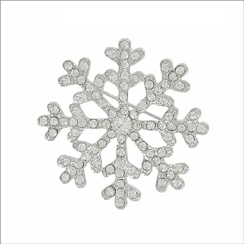 Crystal Stone Snowflake Design Pin #041884
