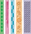 Cuttlebug Embossing Folder Border Set 5/Pkg, Pop Culture