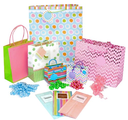 The Gift Wrap Company Hey Baby Bag Tissue and Bow Set