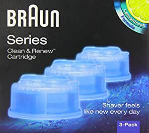 Braun CCR3 Clean and Renew Electric Shaver Refill Cartridges - Pack of 3
