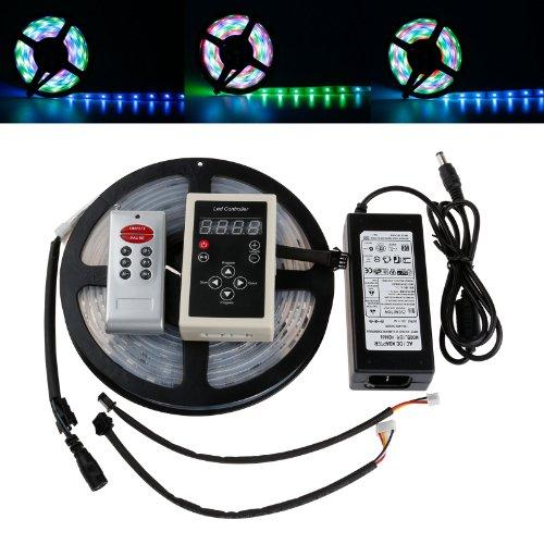 Lemonbest® New Design 5M Waterproof Smd 5050 Led Rgb Dream Magic Colorful 6803 Ic Led Strip Light Dc 12V 150 Leds Decoration + Rf Rmote Controller Kit +12V 6A Power Adapter
