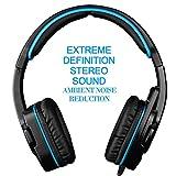 [Gaming Headset PS4 XBOX 360] LIHAO Sades 708 GT Auricular Estéreo con Micrófono para PC, PS4, XBOX 360,MAC y Móvil (Azul y negro)