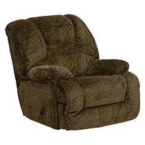 Hot Sale Flash Furniture AM-9700-3975-GG Contemporary Zenith Basil Chenille Chaise Rocker Recliner, Green