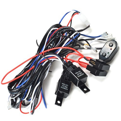 Kawell® 2 Legs Wiring Harness And Switch Support 300W Double Color Light Bar Wiring Harness And Switch