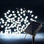 Litom Solar Outdoor String Lights 200...