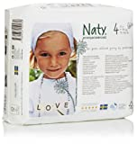 Naty by Nature Babycare Size 4Â (15-40 lbs/7-18 Kg) Nappies - 4 x Packs of 27 (108 Nappies)