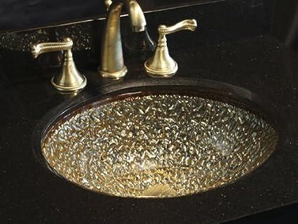 JSG Oceana 007-307-100 Pebble Undermount/Drop-In Combination Sink, Champagne Gold