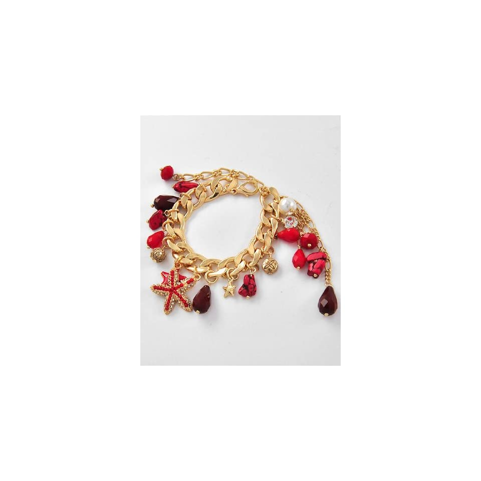 Red Crystal Starfish Bracelet