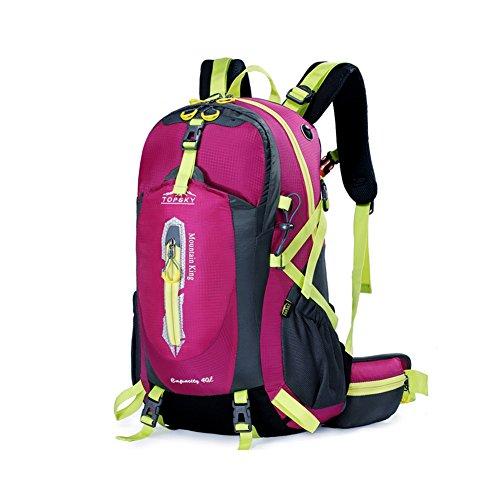 Outdoor sac à dos d'alpinisme / randonnée sac de Voyage multifonction-rose rouge 50L