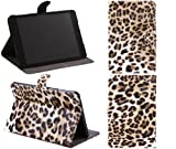 ITALKonline PADWEAR PU LEATHER LUXFOLIO BOOK Executive BROWN LEOPARD PRINT Wallet Case/Cover/Stand With SMART TILT Horizontal Viewing STAND For Apple iPad Mini Tablet (Wi-Fi and Wi-Fi + 3G) 16GB 32GB 64GB