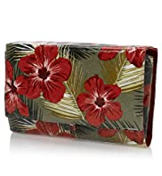 Tropical Floral Design Cosmetic Bag