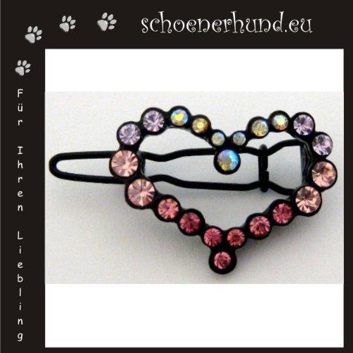 Artikelbild: Haarschmuck für Hunde mit funkelnden Strass - Exklusive Haarspange von Dogs Stars - Herz rosa