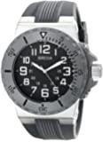 Breda Men's 9302-Grey Clinton Tachometer Brushed Metal Grey Sport Watch