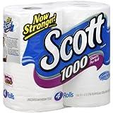 Scott 1000 Unscented Bathroom Tissue 1000 1-Ply 4 roll