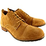 Mens Frank Wright Hart Suede Lace Up Ankle Desert Boots Smart Shoes - Tan - 7