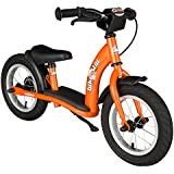 BIKESTAR® Premium Kids Safety Balance Bike for brave explorers aged from 3 years ★ 12s Classic Edition ★ Sunny Orange