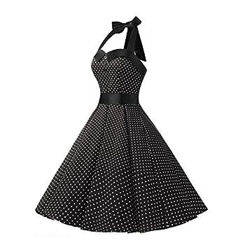 Dressystar Vintage Polka Dot Retro Cocktail Prom Dresses 50's 60's Rockabilly Bandage