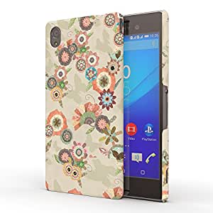 Koveru Designer Printed Protective Snap-On Durable Plastic Back Shell Case Cover for Sony XPERIA M4 Aqua - Flower Bouquets Butter