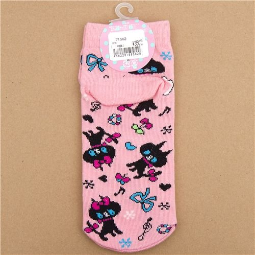 Imagen 2 de calcetines graciosos con gatos negros