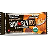 Raw Revolution Raw Rev 100 Calories Super Food Bar, Almond Butter Cup, .8 Ounce, 20 Count