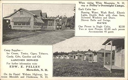 Pelley'S Oernight Camps Meredith, Nh Original Vintage Postcard