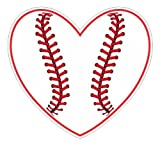 Baseball Heart vinyl decals bumper stickers