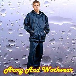 Mens Navy Waterproof Rainsuit Jacket and Trouser Set