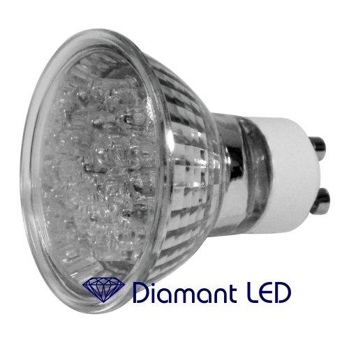 Marken GU10 LED Spot - 24 LED mit Sicherheitsglas 60° Abstrahlwinkel Alureflektor 230V Spiegellampe
