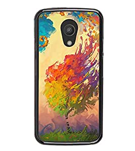 iFasho Tree Painting Back Case Cover for Moto G2