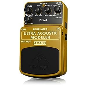 behringer am400 ultra acoustic modeler ultimate electric to acoustic guitar modeling effects. Black Bedroom Furniture Sets. Home Design Ideas