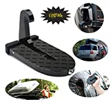 Stepknow Car Doorstep Vehicle Folding Ladder Foot Pegs Easy Access to Car Rooftop with Safety Hammer for Jeep Car SUV