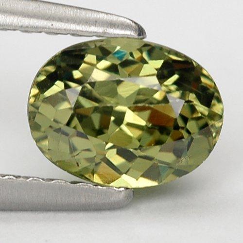 Gems Royal 0.97 Ct. Best Green Natural Demantoid Garnet Gem : 6.6 x 5.01 x 3.61 mm.