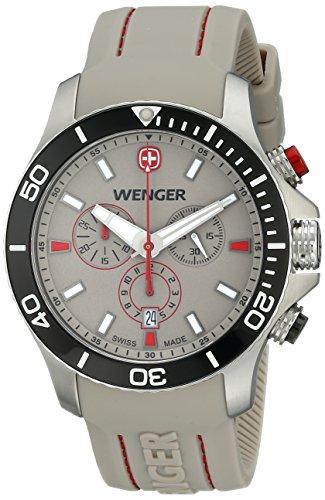 Wenger-Mens-0643105-Analog-Display-Swiss-Quartz-Beige-Watch