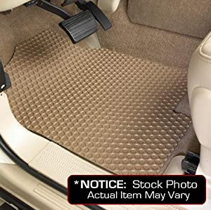 Ford F-250 Super Duty Lloyd Mats Custom-Fit All-Weather Rubbertite Floor Mats 2 Piece Front Set - SuperCab - 2wd or 4wd Dash Switch OK - Tan (2008 08 2009 09 2010 10 )