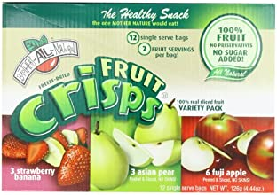 Brothers-ALL-Natural Variety Pack Crisps (Fuji Apple, Asian Pear, Strawberry/Banana), 24-Single Serve Bags